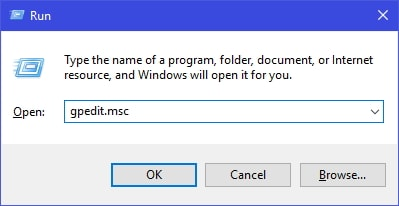 Group Policy Editor Run Command