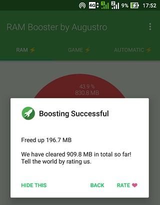 Mencoba Aplikasi RAM Booster