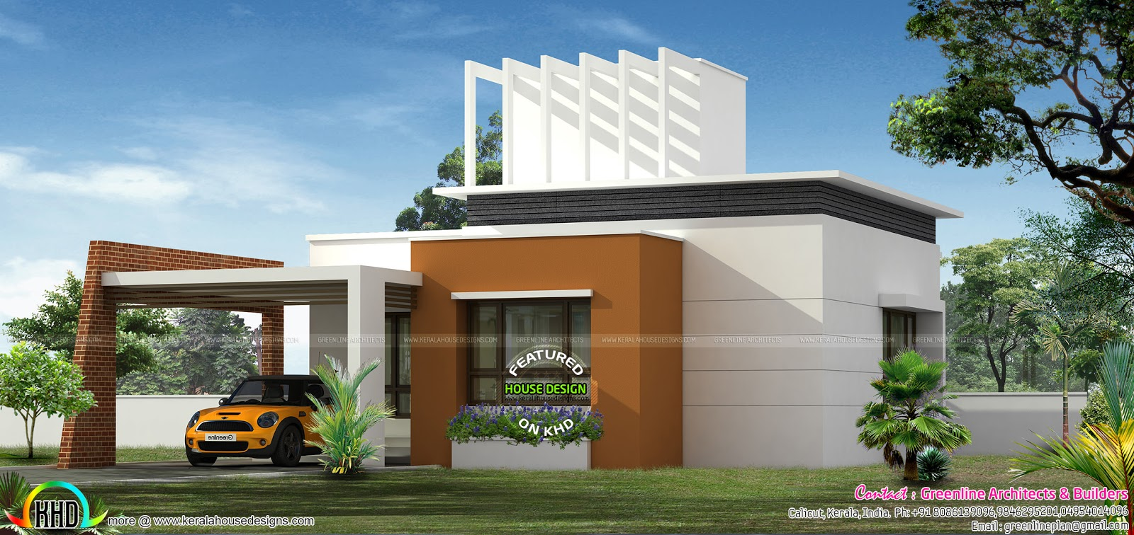 20 lakhs estimate home design kerala home design and for Modern house details