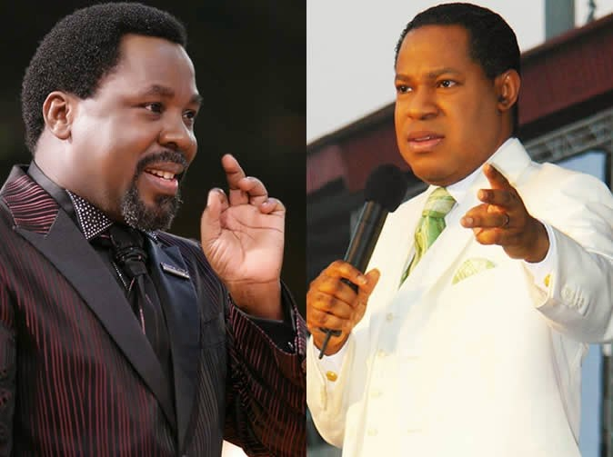 Prophet TB Joshua & Pastor Chris praying together for the Sick Jan