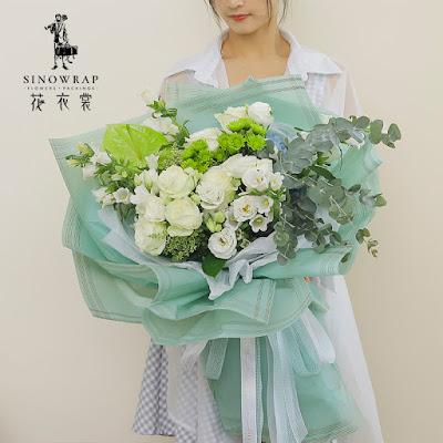 Kertas Buket Bunga / Flower Bouquet Wrapping Paper (Seri HX-030)