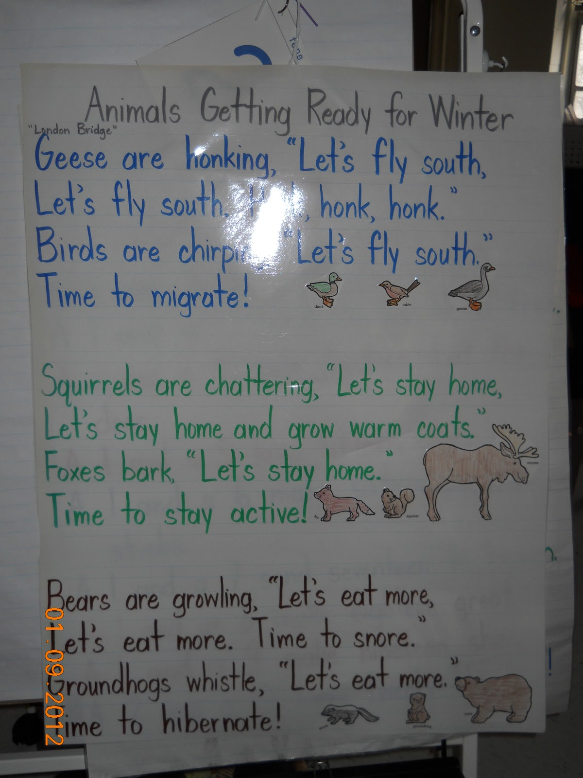 Mrs Whaley S Kindergarten Animals In Winter
