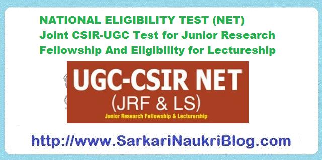 CSIR UGC NET JRF Lectureship