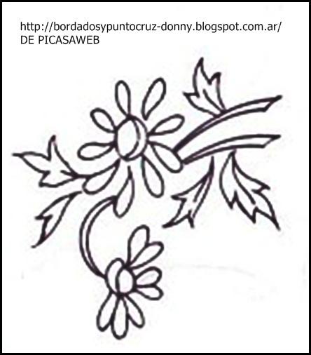 Dibujo De Flores Para Bordar