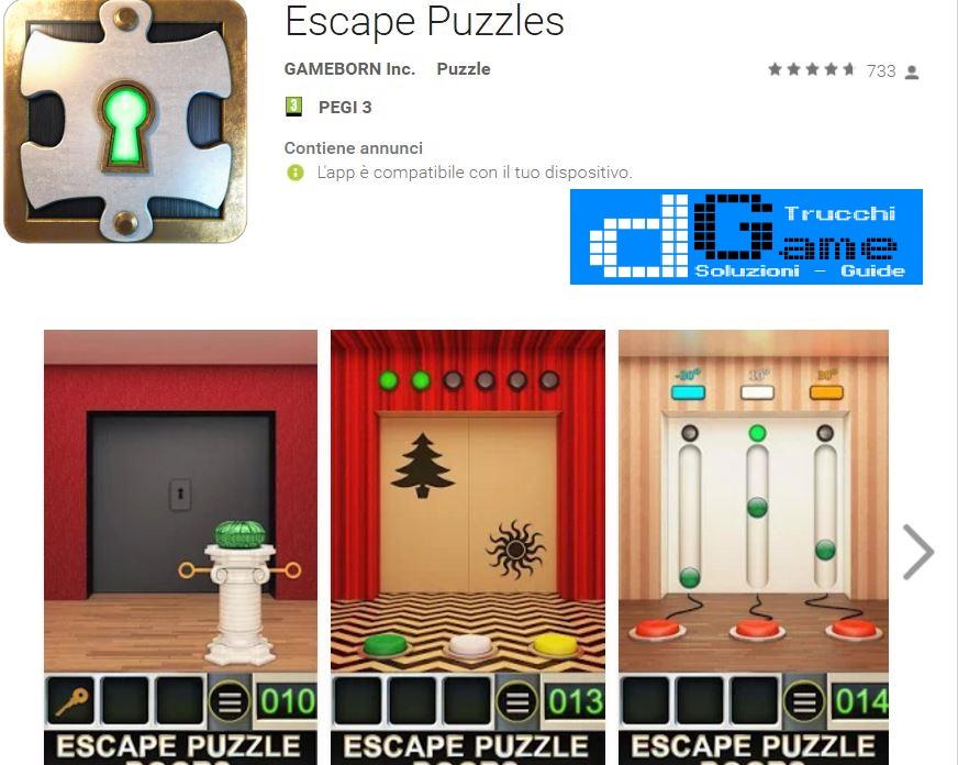 Soluzioni Escape Puzzles livello 51 52 53 54 55 56 57 58 59 60 | Trucchi e Walkthrough level