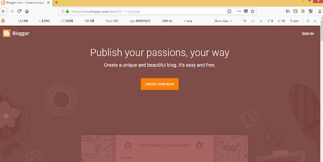 Langkah membuat blog menggunakan blogger