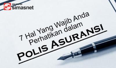Contoh Polis Asuransi Sebagai Referensi