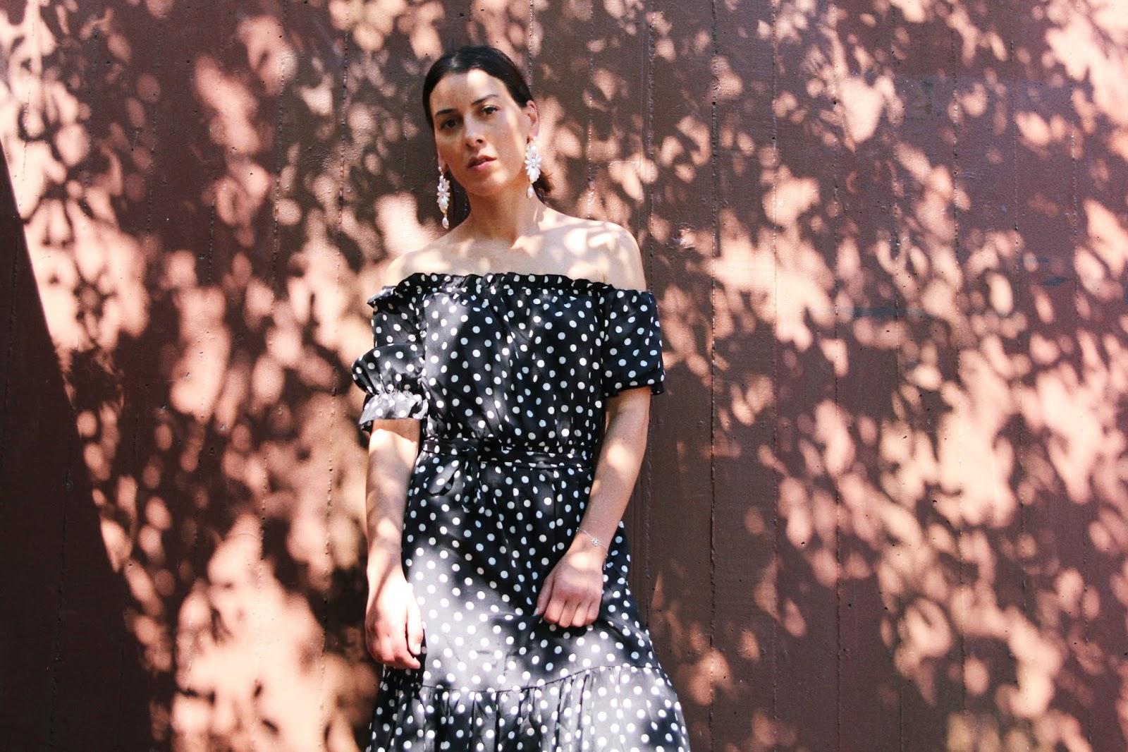 idée-de-look-robe-a-pois-façon-dolce-gabbana-été-2017