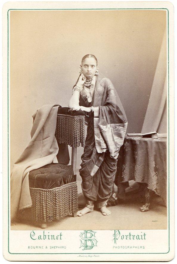 Maharani Jamnabai of Baroda - 1880 Cabinet Card Photograph