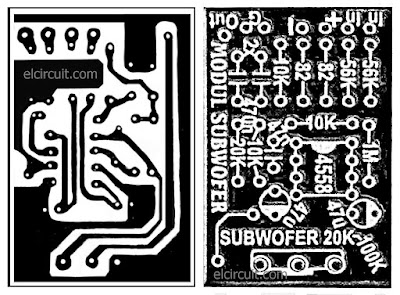 Subwoofer Filter using IC 4558 PCB Layout design