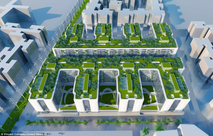 Ergonomically designed for the residential complex two billion eco ...
