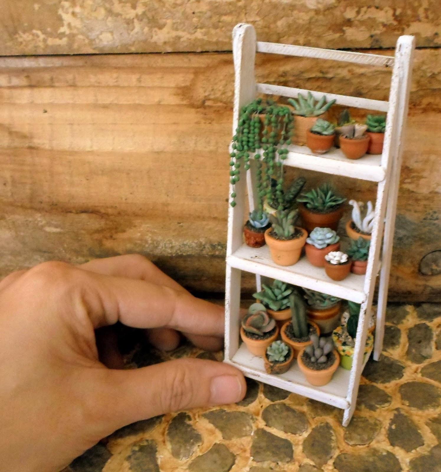 Las margaritas escalera estante de madera para mis for Escalera de jardin de madera