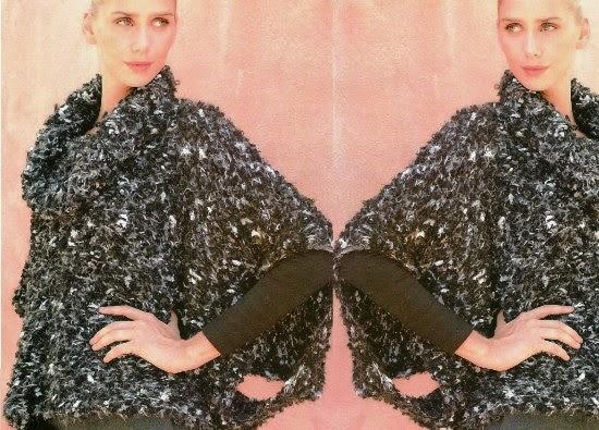 Poncho crochet glamour y sobriedad