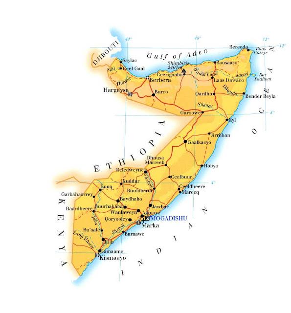 Mapas Geográficos da Somália