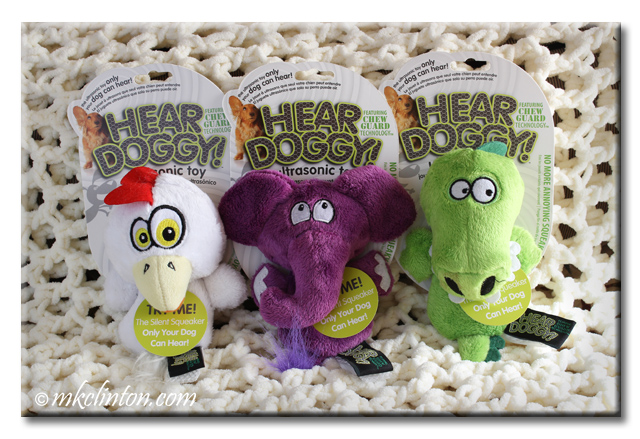 Hear Doggy minis chicken, elephant and gator