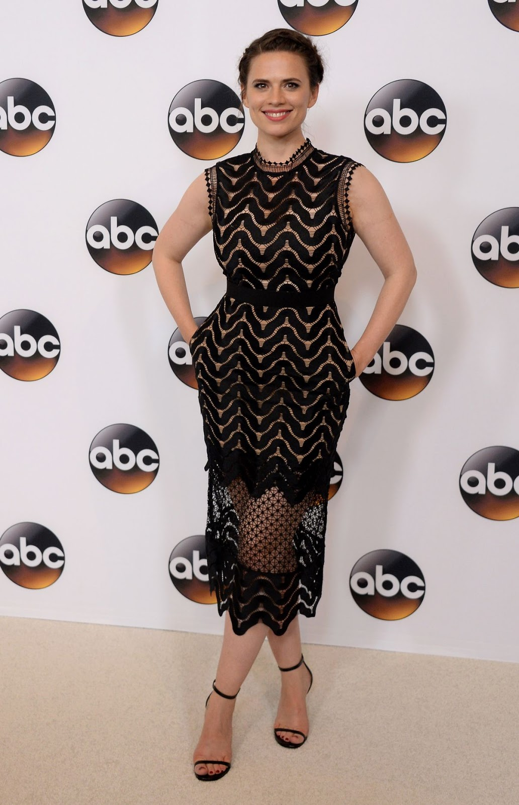Marvel Comics actress Hayley Atwell at Disney ABC Television Tca Summer Press Tour in Beverly Hills