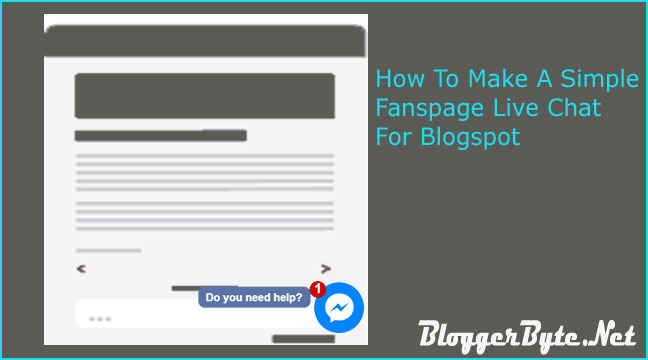 How To Make A Simple Fanspage Live Chat For Blogspot