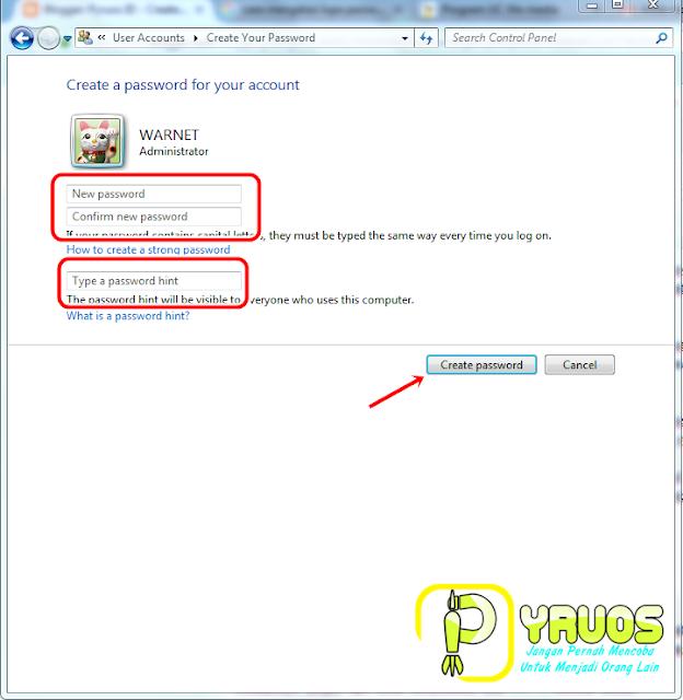 Cara Membuat / Memberi Password Pada Komputer PC / Laptop