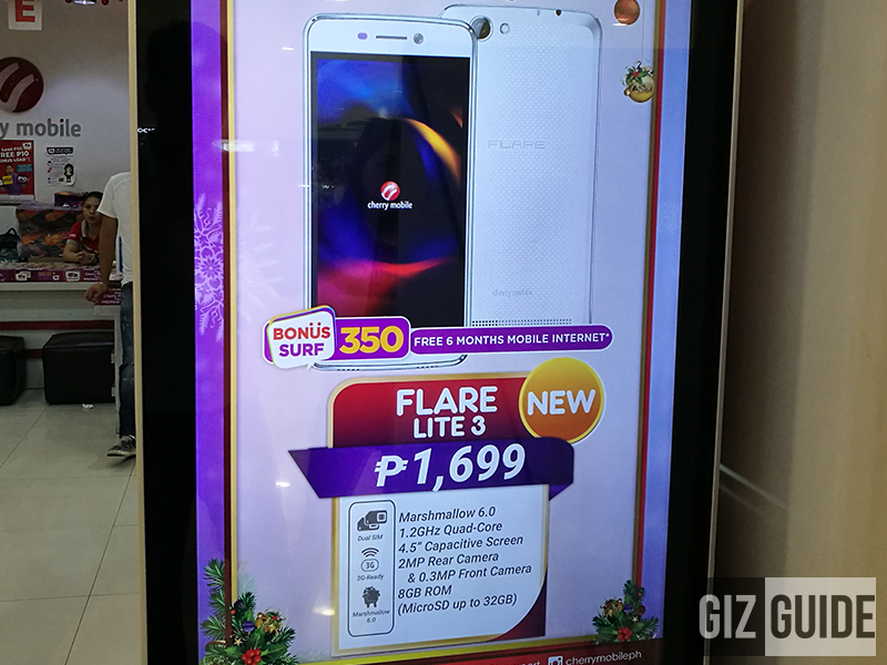 Cherry Mobile Flare Lite 3 Is A Budget Phone With FREE Internet For PHP 1699
