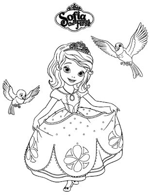 Gambar Mewarnai Putri Sofia - 3