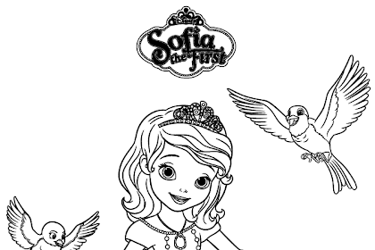 Gambar Sofia Untuk Mewarnai