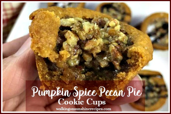 Pumpkin Spice Pecan Pie Cookie Cups PROMO 2 from Walking on Sunshine Recipes
