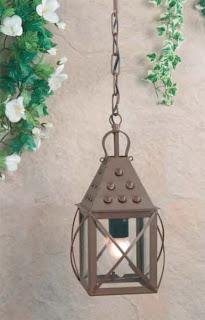 farol de techo, lampara forja, lampara rustica, lampara de patio rustico