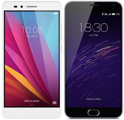 Huawei Honor 5X vs Meizu M2 Note