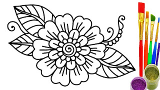 Cute Flower Coloring Pages For Print Free
