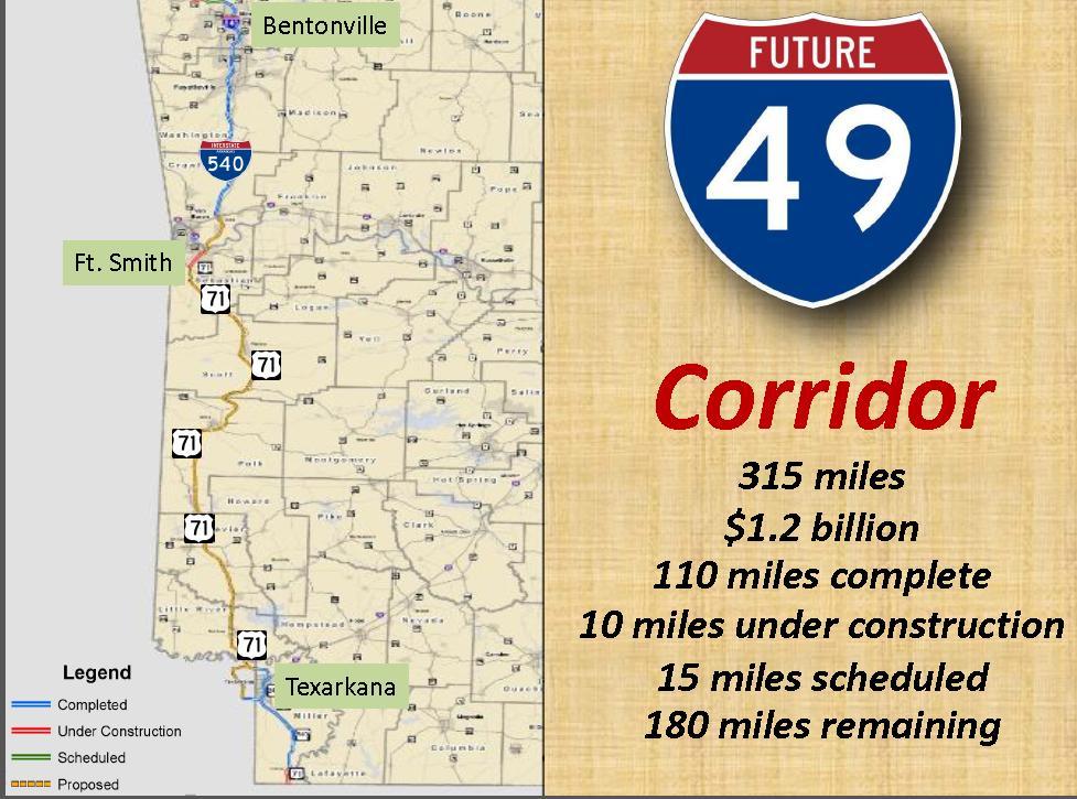 Interstate 69 Arkansas Map.Deep South Optimized Transportation System I 49 Expansion