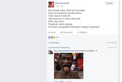 Ahok Tersangka, Ade Armando: Tidak Masuk di Akal