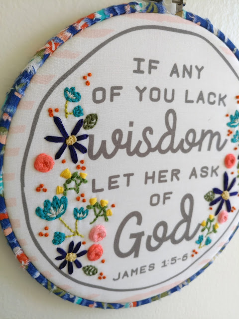 add embroidery details to a favorite scripture