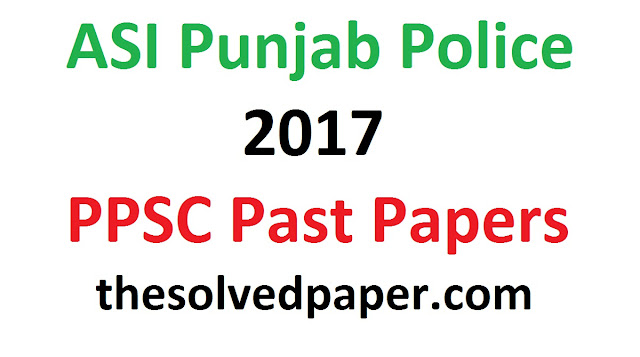 Assistant Sub Inspector Past Papers