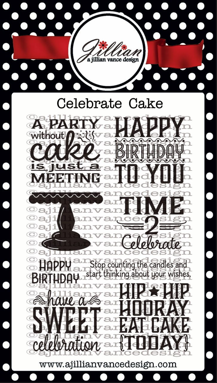 Celebrate Cake Birthday stamp