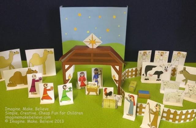 Nativity Diy Craft Model With Star