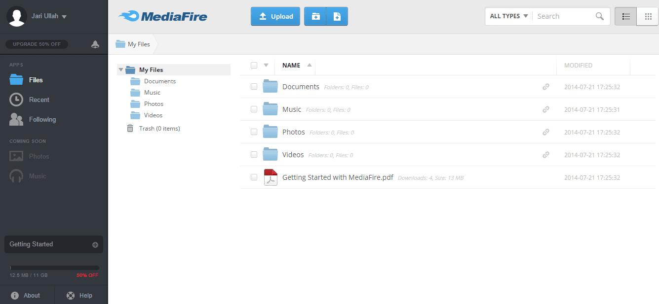Mediafire-Online Storage