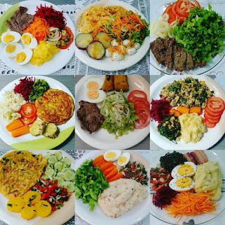 Almoço ou jantar paleo e low carb