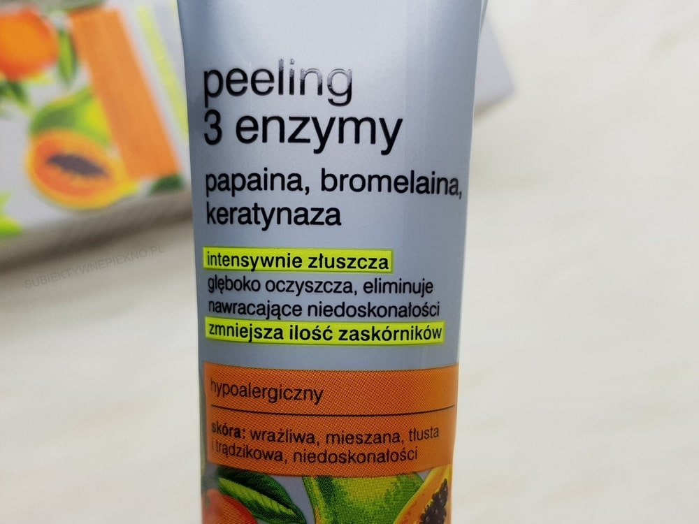 Tołpa 3 enzymy peeling enzymatyczny recenzja