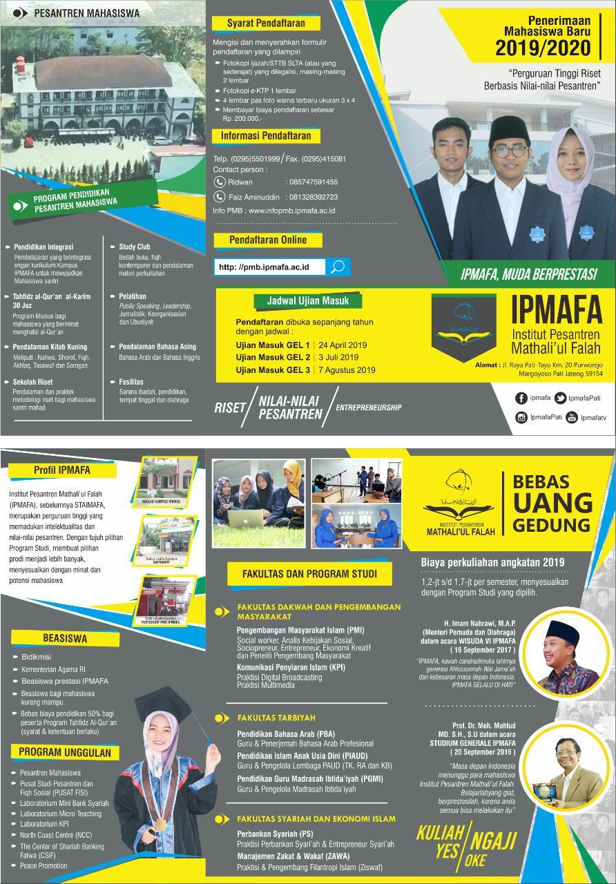 Syarat Pendaftaran Mahasiswa Baru IPMAFA