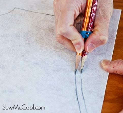 SewMcCool.com adding a seam allowance to a pattern