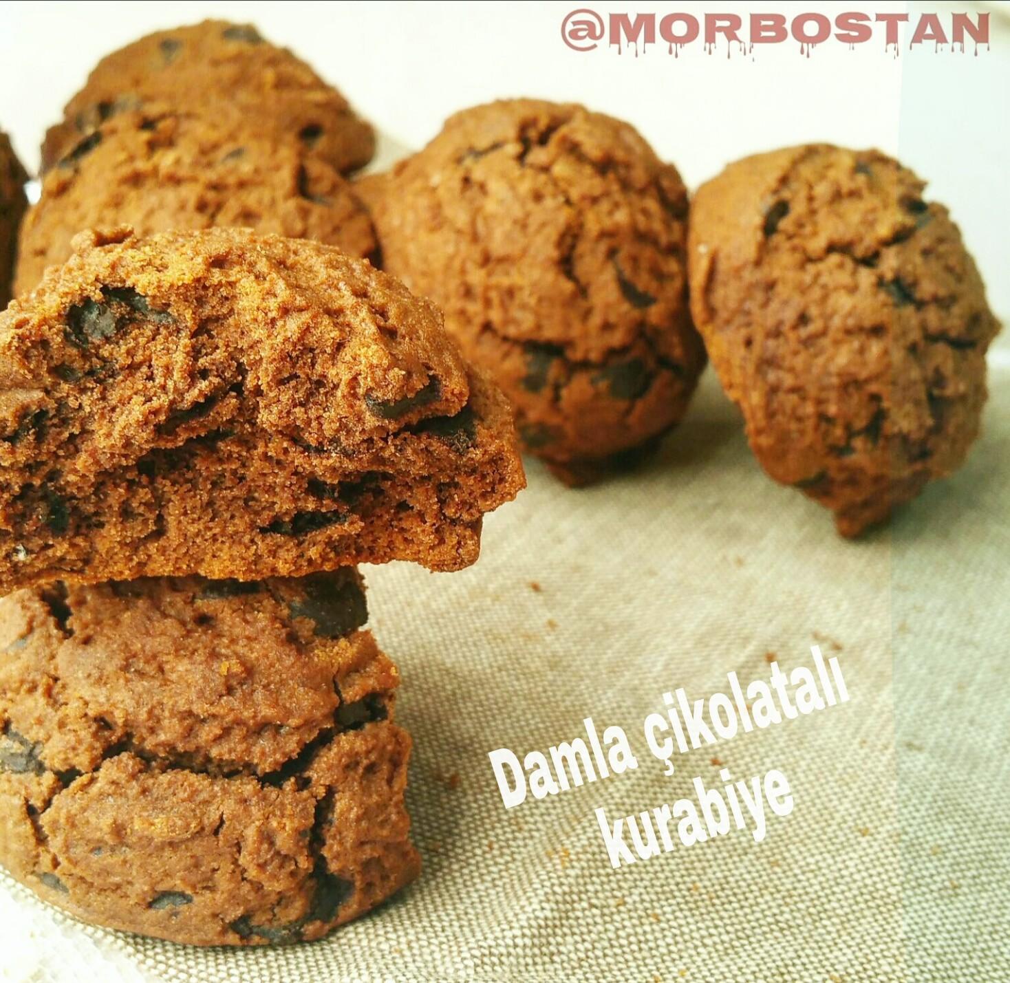 5 dakka Kurabiyesi – Damla Çikolatalı Tepside Kurabiye Tarifi