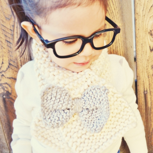 How To Knit A Bow Scarf - Tutorial