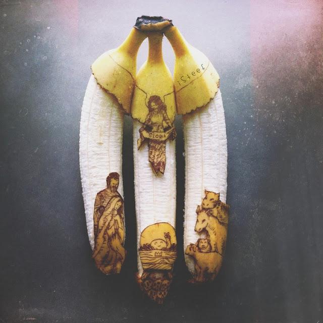 lukisan media pisang paling kreatif unik lucu dan menakjubkan-1