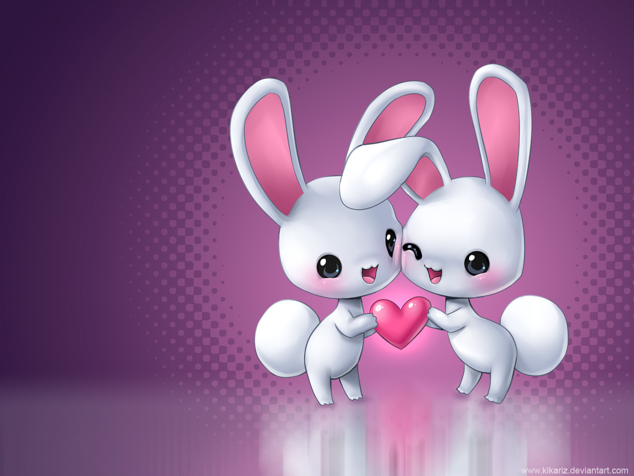 Cute Animated Love Heart Wallpapers For Mobile