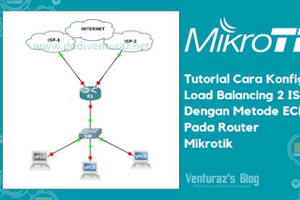 Tutorial Cara Konfigurasi Load Balancing Metode ECMP Pada Router Mikrotik