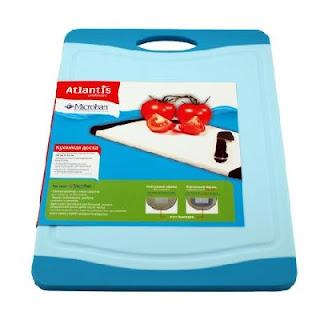 Кухонная доска с антибактериальным покрытием Microban Flutto S-B