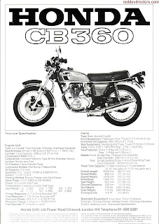 Honda CB360 brochure 1975 page 2