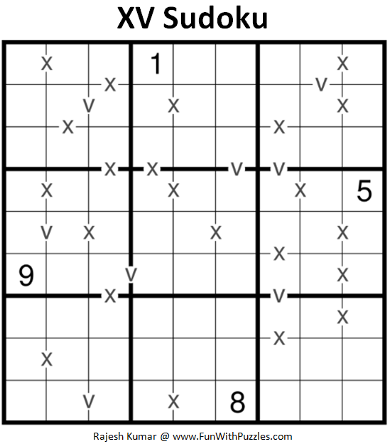 XV Sudoku Puzzle (Fun With Sudoku #240)