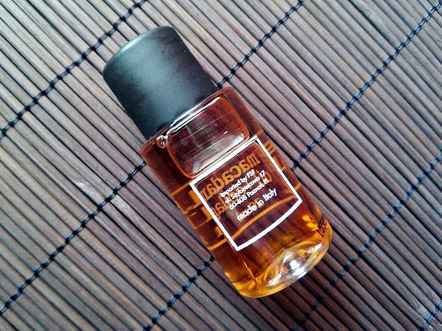 Bioelixire, Macadamia Oil + Collagen - Serum do włosów, tył opakowania