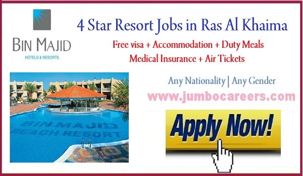 Hotel jobs in Ras Al Khaima, Hospitality jobs in Ras Al Khaima,